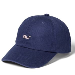 VINEYARD VINES Baseball Hat NAVY PINK WHALE NWT